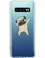 Oihxse Transparente Funda para Samsung Galaxy C9 Pro Ultrafina Silicona Suave TPU Carcasa Interesante Perro Patrón Flexible Protectora Estuche Antigolpes Anti-Choque (A4)