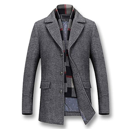 Stardust-shine-outerwear 2019 Men Winter Thick Cotton Wool Jackets Casual Fashion Slim Fit Large Size Nylon Jackets,Gray,XXL
