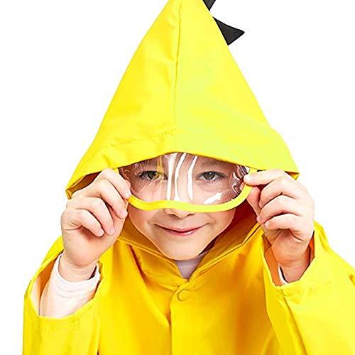 Marguerite jaun Gamtec Imperm/éable Veste de Pluie pour Enfant 1-10 Ans Costume gar/çon en Forme de Dinosaure