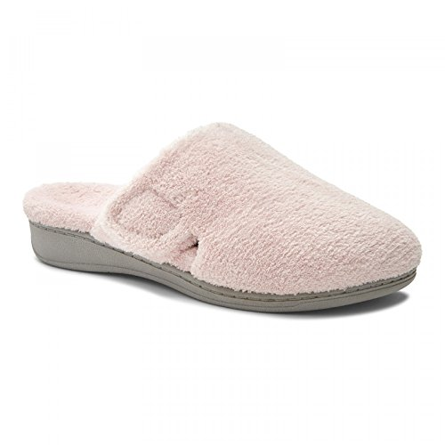 Orthaheel by Vionic Indulge Gemma Women Round Toe Canvas Gray Slipper Pink Terry shopping online cheap sale with credit card low shipping for sale buy cheap 100% authentic 2014 new sale online ANg0FGKwK
