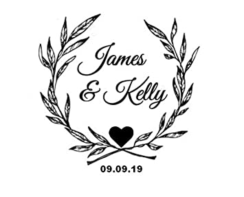 custom self inking save the date stamps personalized round wedding