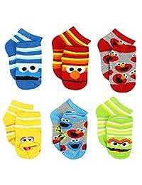 Sesame Street Boys 6 pack Socks (Toddler)