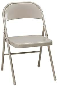 Amazon.com: MECO 4-Pack todos silla plegable de acero ...