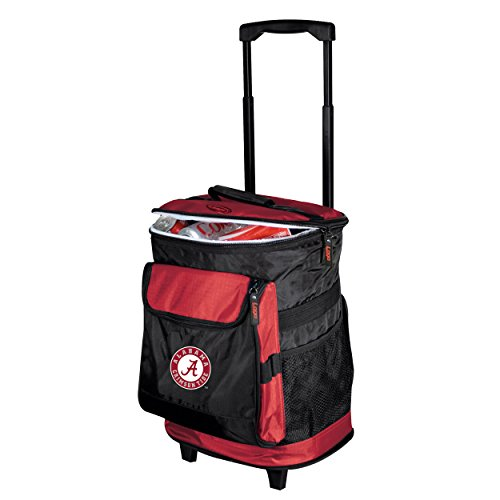 Logo Brands NCAA Alabama - Rolling Cooler by Alabama Crimson Tide Nylon Backpack