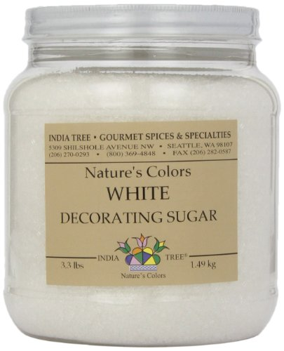 (India Tree Frost White Decorating Sugar, 3.3 Pound)