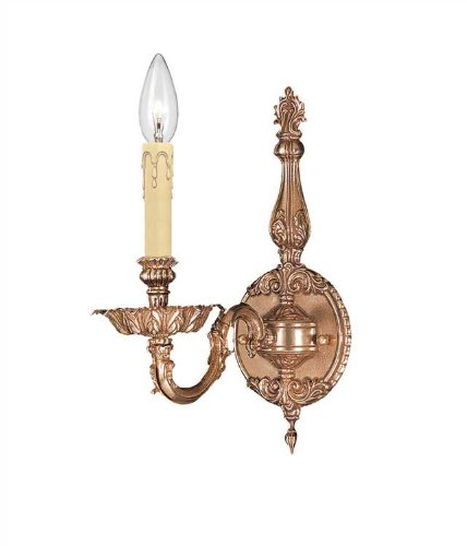 Novello 1 Light Sconce (Crystorama 2401-OB Traditional One Light Sconces from Novella collection in Brassfinish, 8.50 inches)