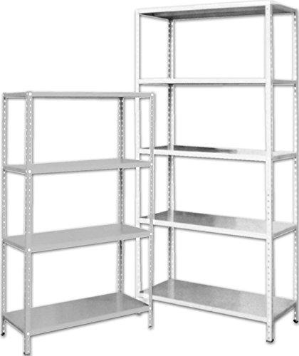 Scaffale Metallo 80 X 40.Scaffale Kit Cm 80x40 Grigio Chiaro Mt 2 D Amazon It Fai Da Te