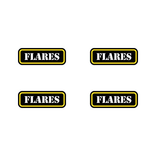 (4x) Flares Ammo Can Sticker Set Decal molon labe flare type 2 FA Vinyl