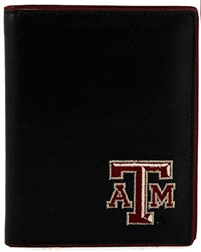 SANDOL Texas A&M Aggies Men's Black and Maroon Hipster Wallet