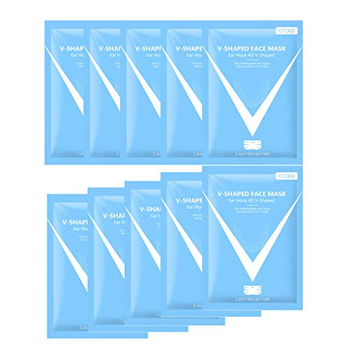 V-Shaped face Shaping Stickers,Ear-Hanging face-Lifting V-face Facial hydrogel Care Patch for Women 10pcs/Set