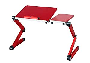 iCraze Stand for Laptop, Ipad and Books + Laptop Table Laidback Computer Desk Portable Bed Tray Book Stand Multifuctional (red)