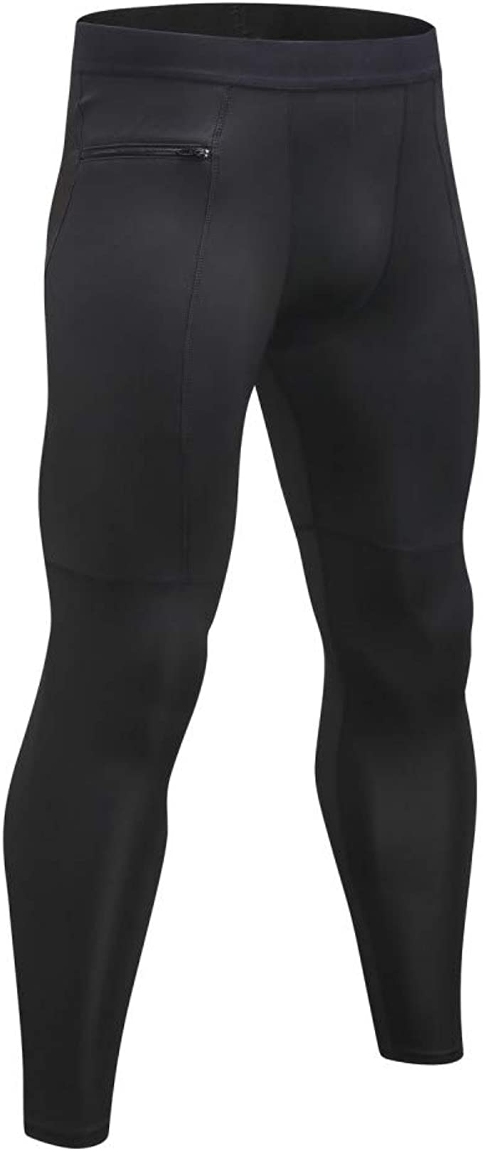 Men/'s Cycling Running Compression Fitness Gym Tights Sports Pants With Pocket