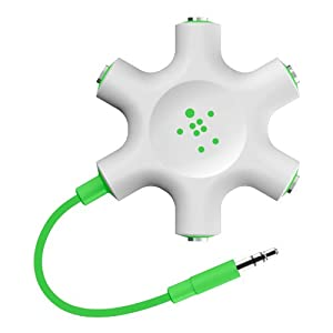 Belkin Rockstar Multi Headphone Splitter (Green)