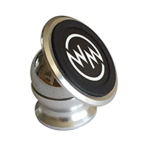 Top Rated Magnetic Cell Phone Holder – Car Cell Phone Mount for Cars, Boats, Uber, Best Car Cell Phone Holder, Best Phone Car Mount Holder, CellPhone Holder, Car Phone Mount By WhiteMountain (Silver)