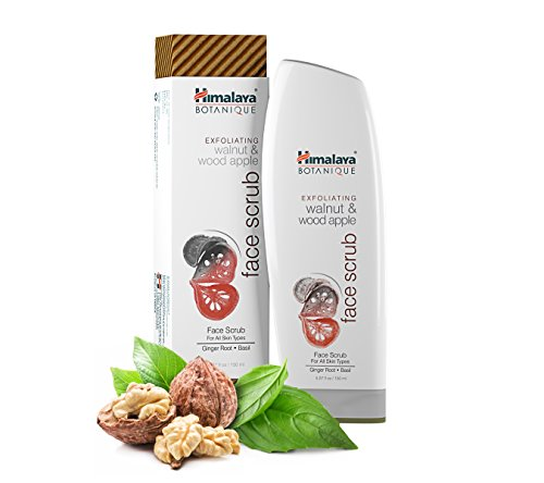 Himalaya Botanique Exfoliating Walnut & Wood Apple Face Scrub for All Skin Types, Free from Parabens, SLS and Phthalates, Facial Scrub & Pore Cleanser with Ginger and Basil, 5.07 oz (150 ml)