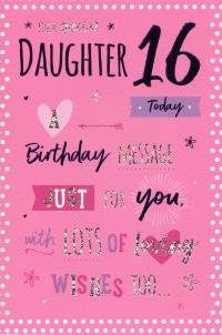 Image Unavailable Not Available For Colour Special Daughter 16th Birthday Card