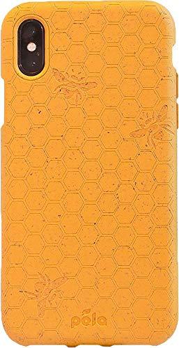 - Pela: Biodegradable Phone Case for iPhone X - Plastic Free (Honey Bee)