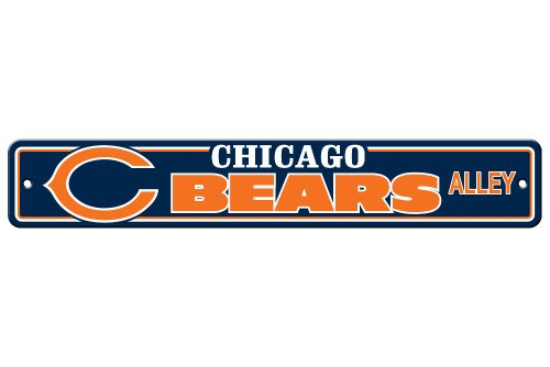 Fremont Die NFL Chicago Bears Plastic Street Sign
