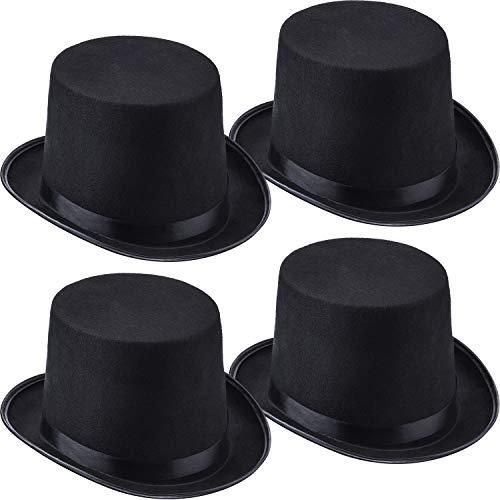 4 Packs Funny Party Hats Black Felt