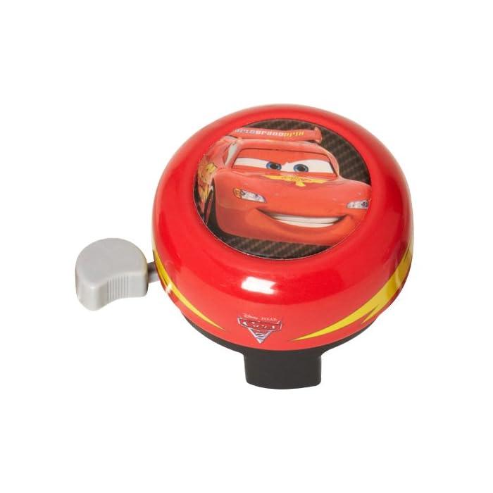 Disney Cars C892084 Timbre de Bicicleta Rojo