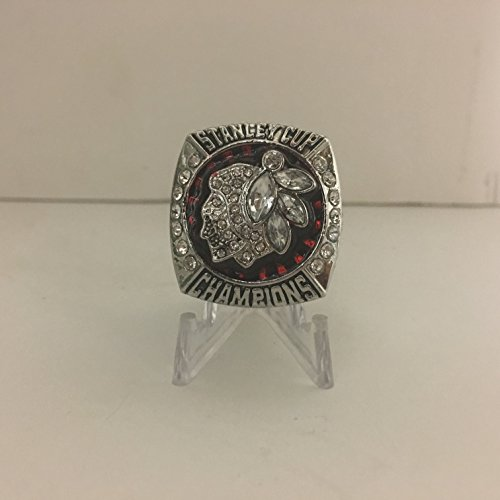 2013 Jonathan Toews #19 Chicago Blackhawks High Quality Replica 2013 Stanley Cup Ring Size 10.5-Silver Colored USA (Blackhawk Ring)