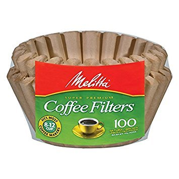 Melitta 8-12 Cup Basket Filter Paper (Natural Brown, 400 Count)