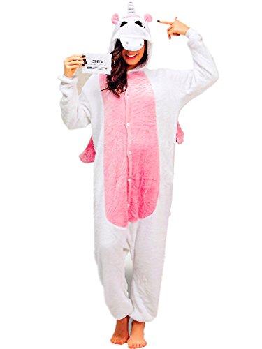 Unicorn Onesie Pajamas Costumes Footed Pyjamas Plush One Piece Hooded Sleepwear