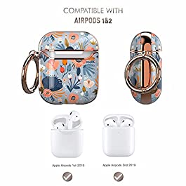 wenew Protective Airpods Case Cover for Apple Airpods 2 & 1, Cute Fadeless Patterns Shockproof Hard Case Cover with…