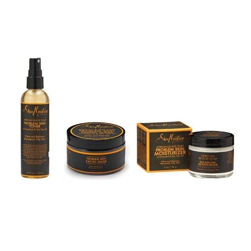 L'humidité de karité savon noir africain problème peau soins Combo je