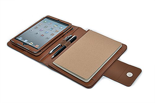 Deluxe Leather Case with Kickstand and Writing Pad, for iPad Mini 4 (Deluxe Writing Pad Holder)