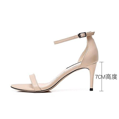 Femme UK3 Pour Et Talons SHOESHAOGE Sandales 5 Des Ol Mince Chaussures Rosée De Femmes La Fendue Haut Plat Hauts 122 Avec Talon EU36 ETwTRv