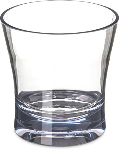 Carlisle Traditional Weight - Carlisle 5612-407 Alibi Heavy-Weight Plastic Double Old Fashioned Glass, 12 oz (Set of 4)