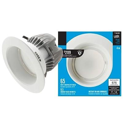 EcoSmart 4 in. 9.5-Watt (65W) Daylight (5000K) LED Flood Light Bulb Downlight (E)*