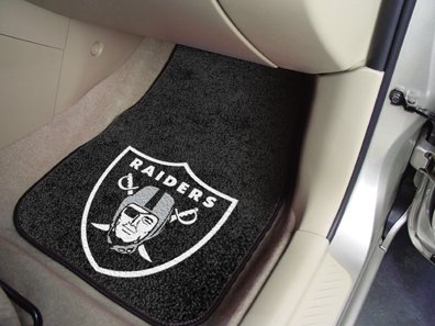 Oakland Raiders NFL Car Floor Mats (2 Front) by Hall of Fame Memorabilia