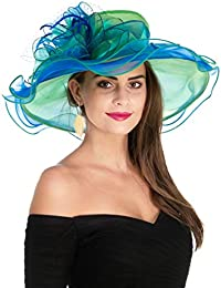 476a73ee5fc94 Women s Organza Church Kentucky Derby Fascinator Bridal Tea Party Wedding  Hat