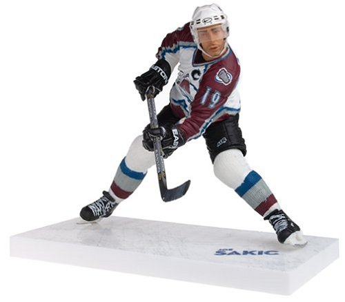 McFarlane Toys NHL Sports Picks Series 9 Action Figure: Joe Sakic 2 (Colorado Avalanche) White Jersey (Mcfarlane Toys Hockey)