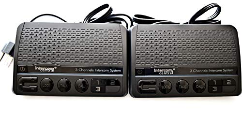 - Intercom Central GROUND wire Power-line 3 CHANNELS Intercom System, Two Stations Set.