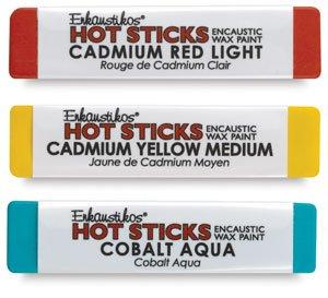 Hot Sticks Encaustic Wax Paints - Cobalt Teal Green