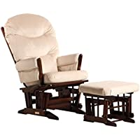 Dutailier Colonial Glider-Multi-Position Recline and Ottoman Combo