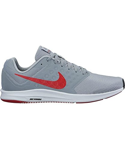 Nike Mens Downshifter 7 Wolf Grey RED Stealth Black Size 10 for $<!--$67.92-->