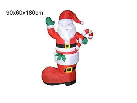 Papá Noel hinchable Bota Muñeco de nieve corriente con luz ...