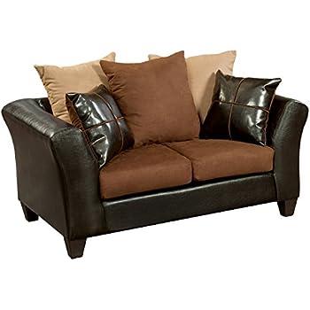 Fantastic Flash Furniture Riverstone Sierra Chocolate Microfiber Loveseat Evergreenethics Interior Chair Design Evergreenethicsorg