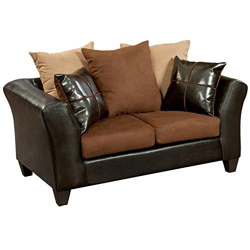 Flash Furniture Riverstone Sierra Chocolate Microfiber Loveseat, Brown
