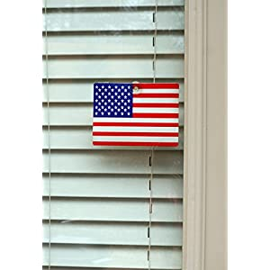 Emerald Wholesale American Flag with Suction Cup - Perfect for Any Window, Car, Truck, SUV, Office and More