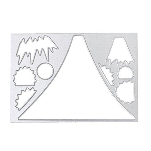 Cutting Dies Christmas Halloween, GOTD Metal Cutting Dies Card Making Scrapbooking Stencils Paper Card Craft Embossing DIY (Silver A) ()