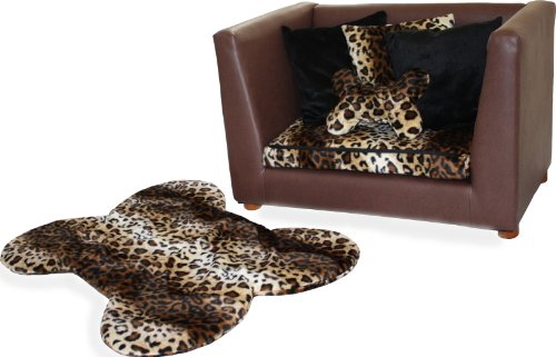 Deluxe Orthopedic Memory Foam Dog Bed Set, Medium, Leopard