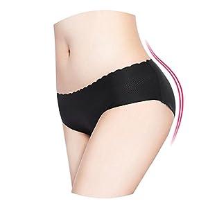 HaloVa Women's Underwear, Butt Hip Lifter Padded Panty, Breathable Seamless Ladies Shapewear, Black