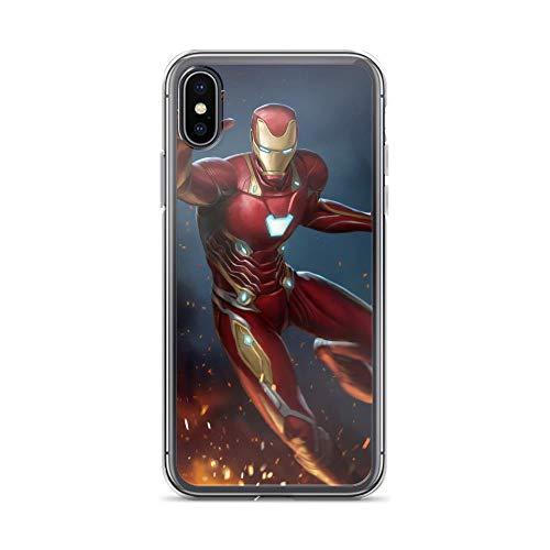 iPhone X/XS Anti-Scratch Shockproof Clear Case Art Tony Ironman Stark]()