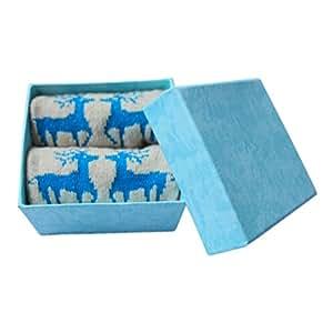 Valdler Women's Reindeer Print Socks With Gift Box