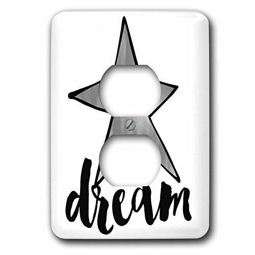 Silver Star Plug (3dRose PS Stars - Picturing Silver Star Dream - Light Switch Covers - 2 plug outlet cover (lsp_270961_6))